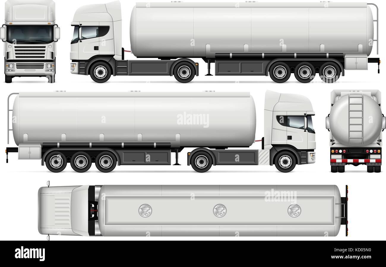 Tankwagen vektor Mock-up für Auto Branding und Werbung. Elemente der ...