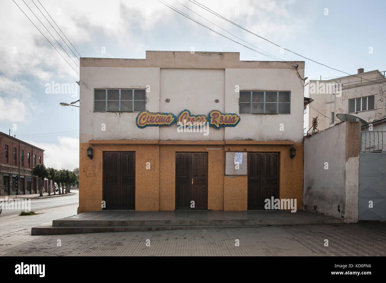 Vue de l'une des 30 Salles de Kinos Deutschlands existent ein Asmara, le 24 Fevrier, erythree. Blick auf eines Stockbild