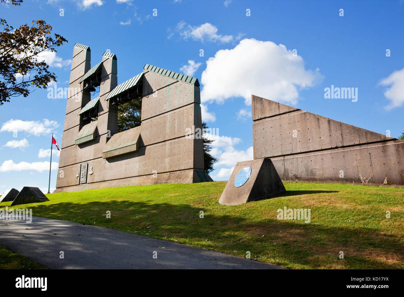 Die Halifax Explosion memorial Glockenturm am Fort Needham Park erinnert an die fast 2.000 Menschenleben verloren Stockbild
