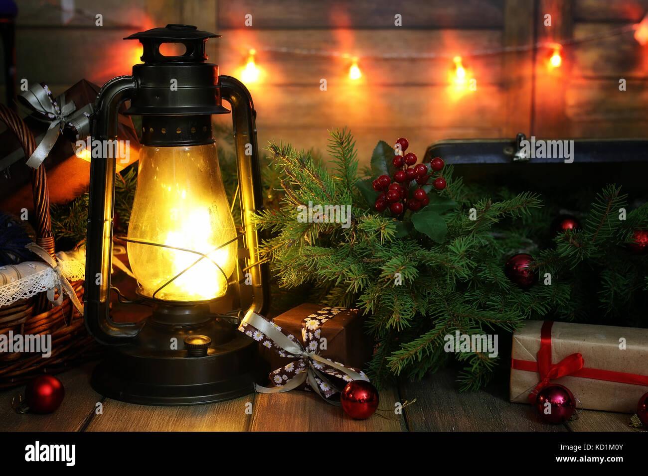 christmas balls fir branch burning candles gift stockfotos christmas balls fir branch burning. Black Bedroom Furniture Sets. Home Design Ideas
