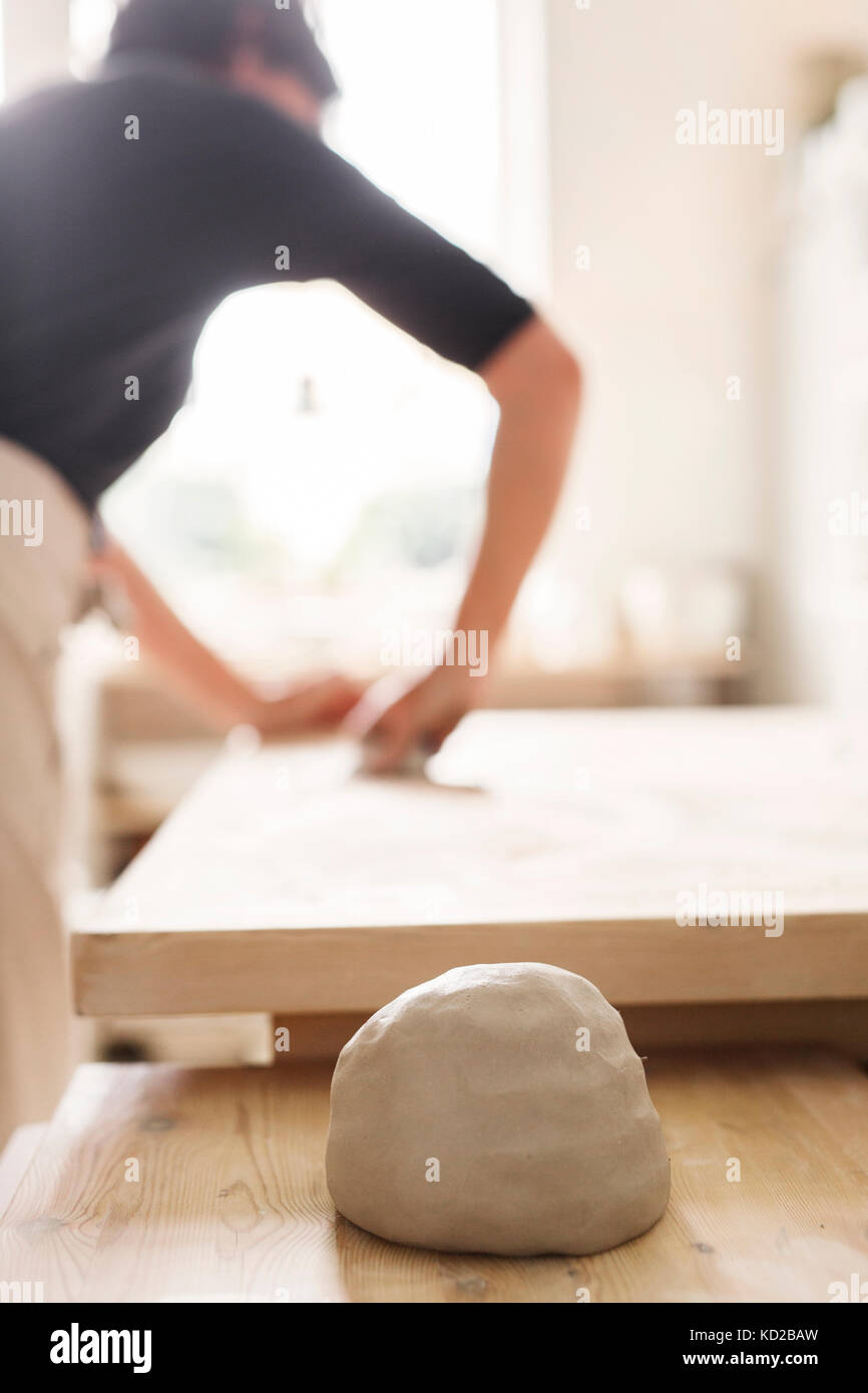 Töpfer bei der Arbeit Stockfoto