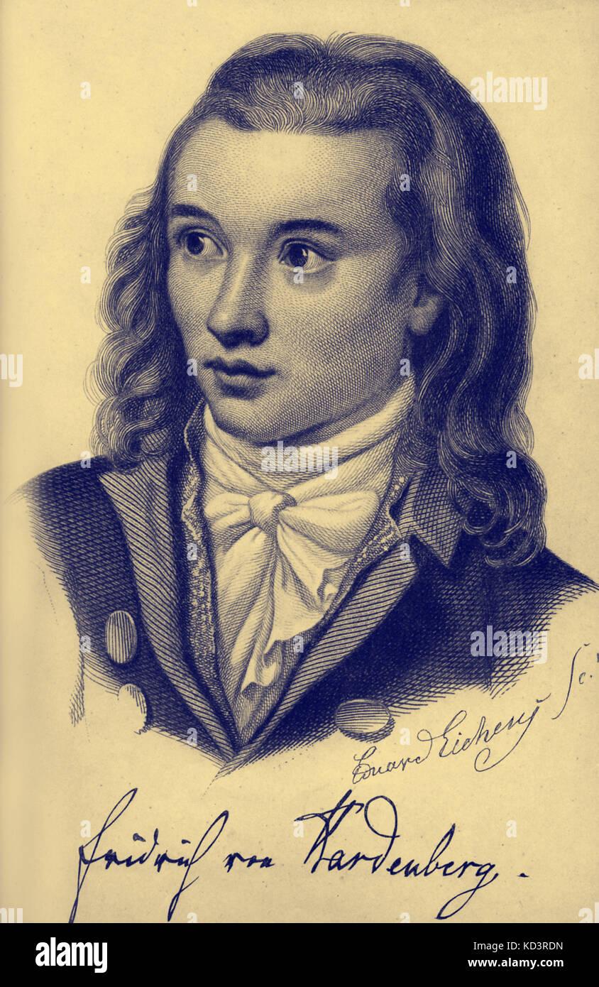 Novalis Pseudonym von Georg Philipp Friedrich Freiherr von Hardenberg. deutscher Autor und Philosoph der frühen Stockbild
