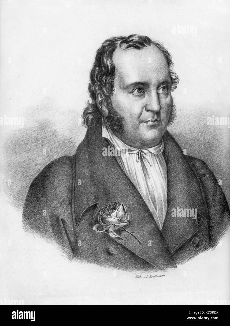 Johann Paul Friedrich Richter oder Jean Paul Johann Paul Friedrich Richter geboren. Deutscher Schriftsteller.  21. März 1763 – 14. November 1825 Stockfoto