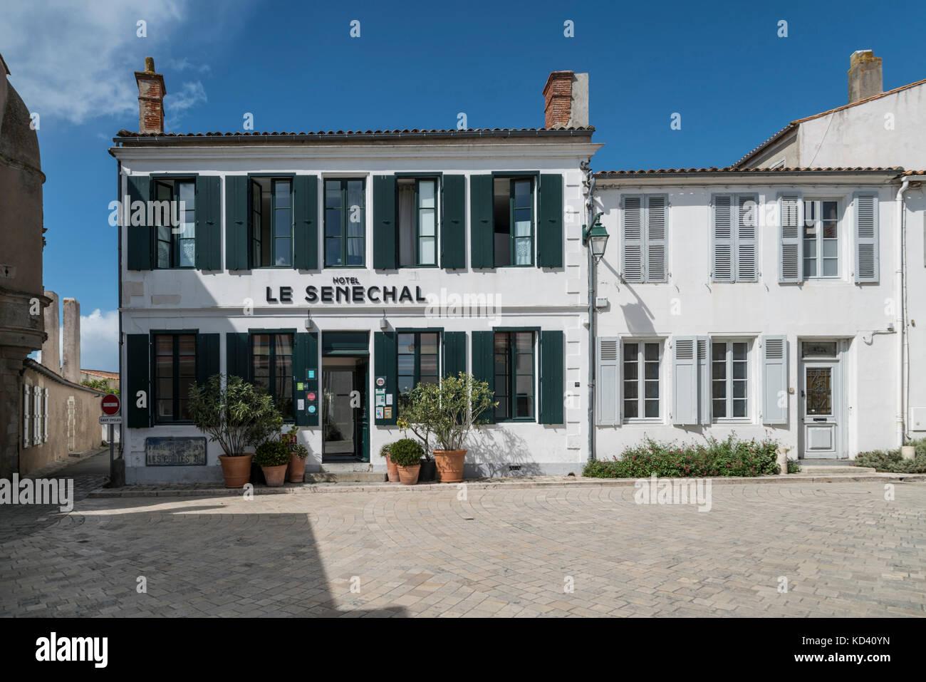 Ars-en-Re, Hotel senechal, Ile de Re, Nouvelle - Aquitaine, Französisch westcoast, Frankreich, Stockbild