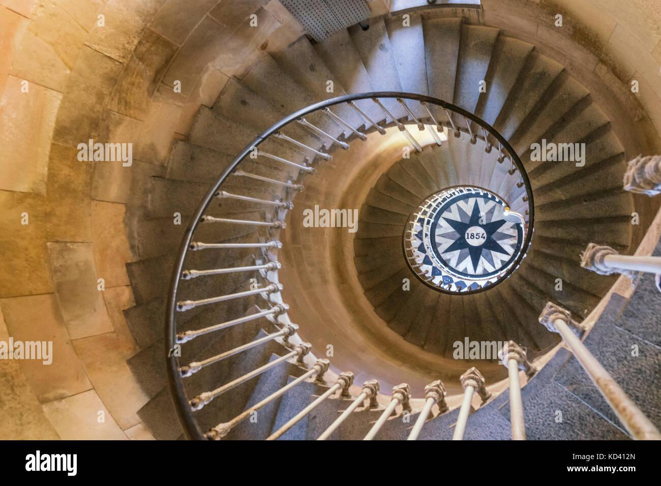 Phare des Baleines, Leuchtturm, Treppe, Ile de Re, Nouvelle - Aquitaine, Französisch westcoast, Frankreich, Stockbild