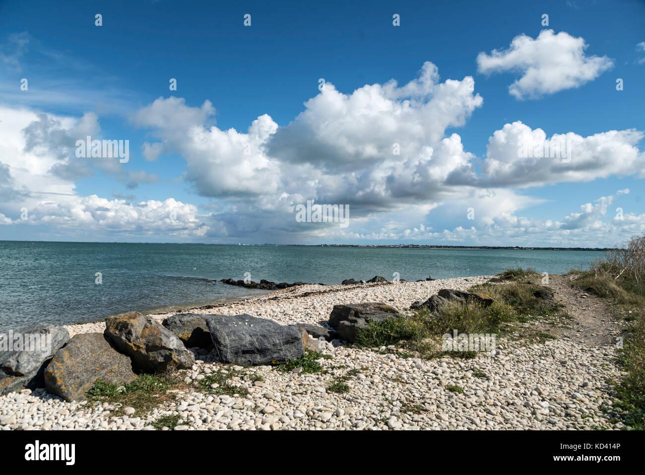 Wolken, Ile de Re, Nouvelle - Aquitaine, Französisch westcoast, Frankreich, Stockbild