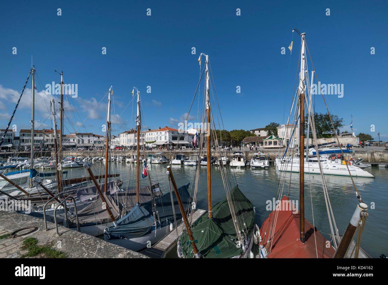 Hafen von La Flotte, Ile de Re, Nouvelle-Aquitaine, Französisch westcoast, Frankreich, | Hafen von La Flotte, Stockbild