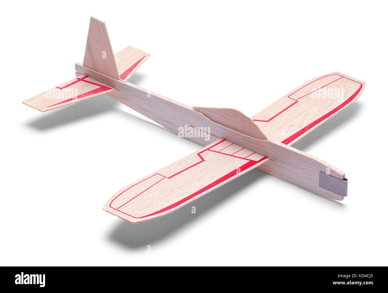 Kinder Spielzeug Flugzeug auf einem weißen Hintergrund. Stockbild