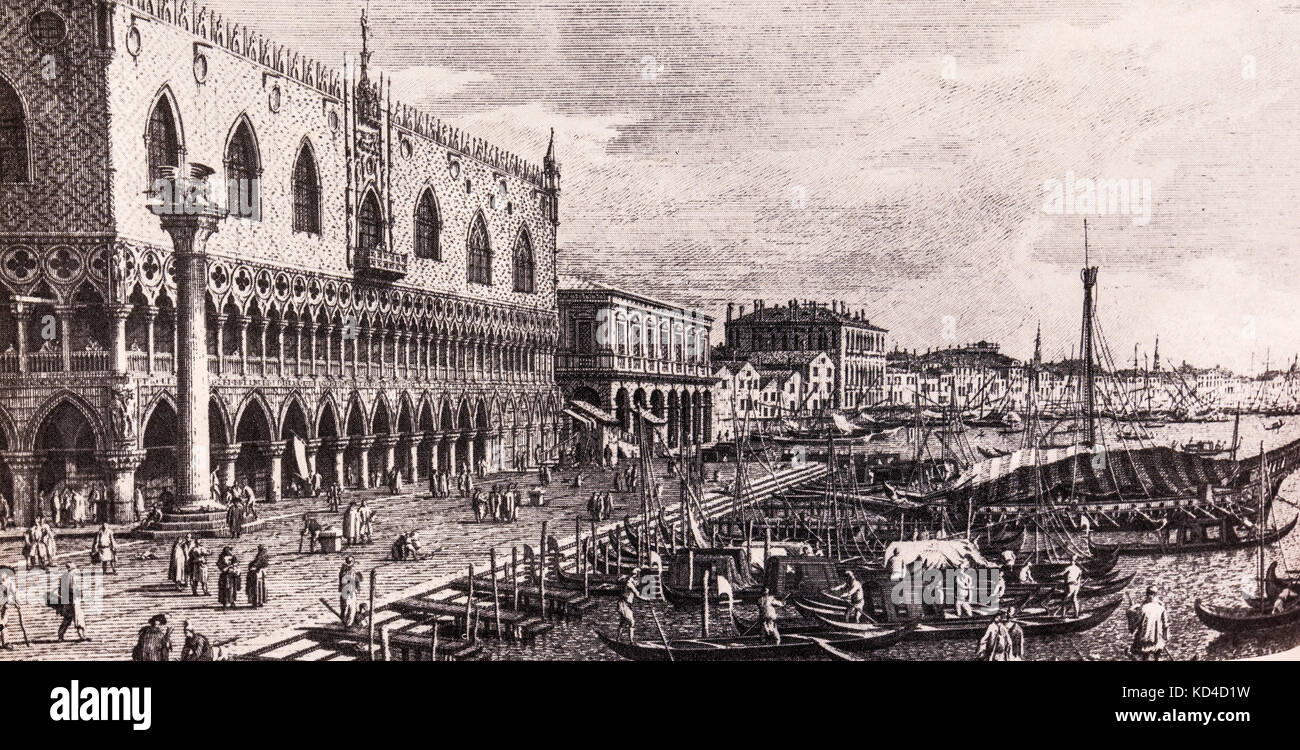 venice lithograph stockfotos venice lithograph bilder alamy. Black Bedroom Furniture Sets. Home Design Ideas