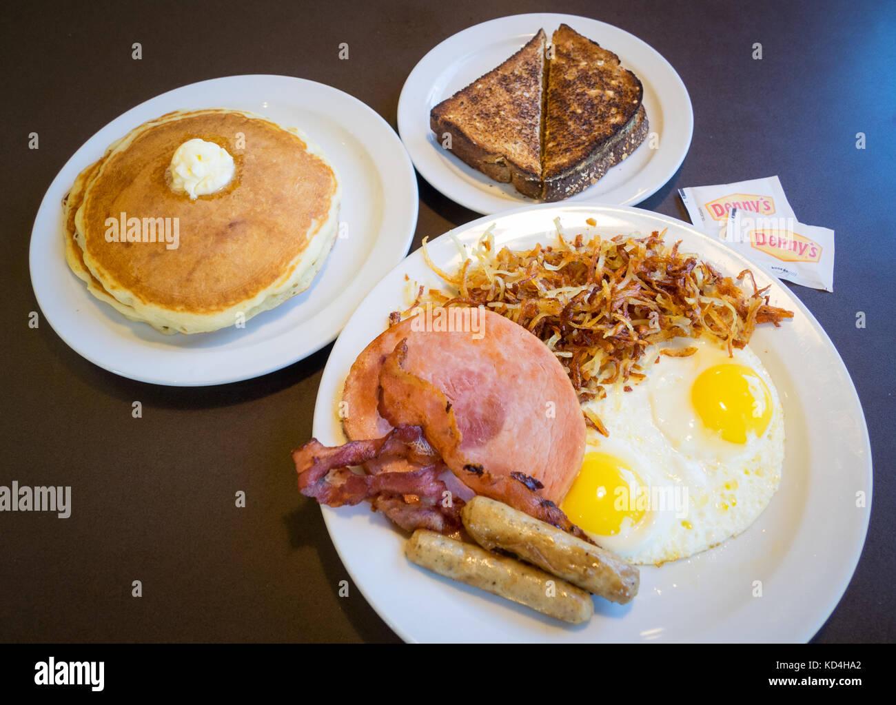 Ein Grand Slam Frühstück Von Denny Dennys Diner Einem Bekannten