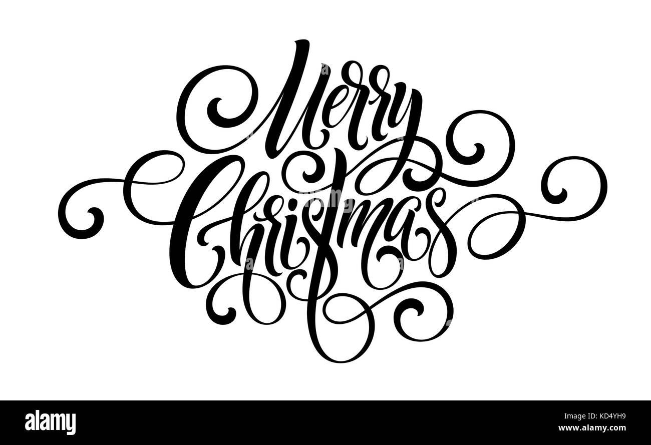 Frohe Weihnachten Handschrift Skript Schriftzug. Vector Illustration ...