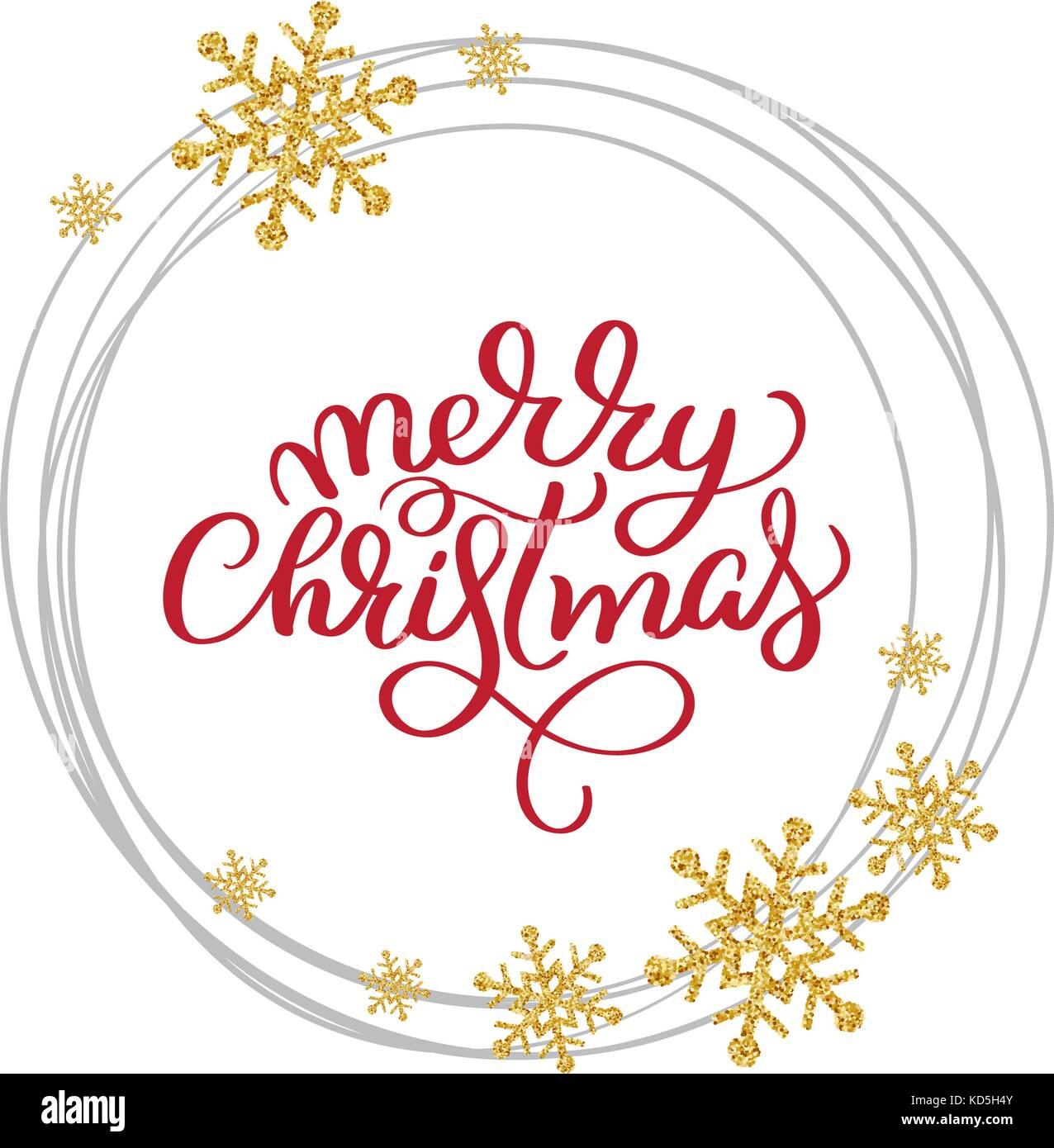 Frohe Weihnachten Vektor text kalligrafischen Schrift design Karte ...