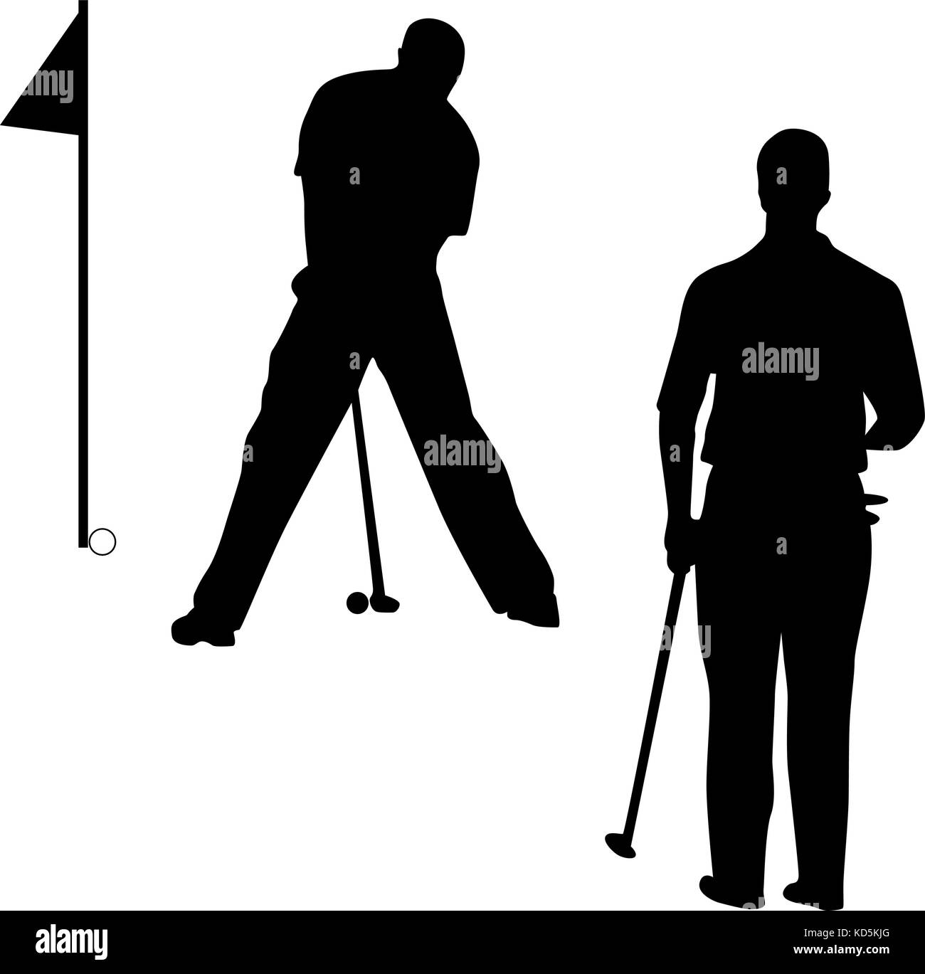 Golf Silhouette Vektor Vektor Abbildung Bild 163009016 Alamy