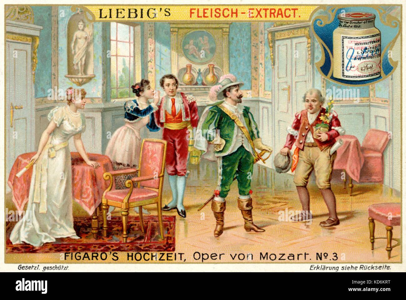 Wolfgang Amadeus Mozarts Oper Die Hochzeit Des Figaro Le Nozze Di Figaro Illustration Zu Act Ii Graf Und Grafin Almavira Figaro Und Susanna Betrunkene Gartner Antonio Libretto Lorenzo Da Ponte Nach