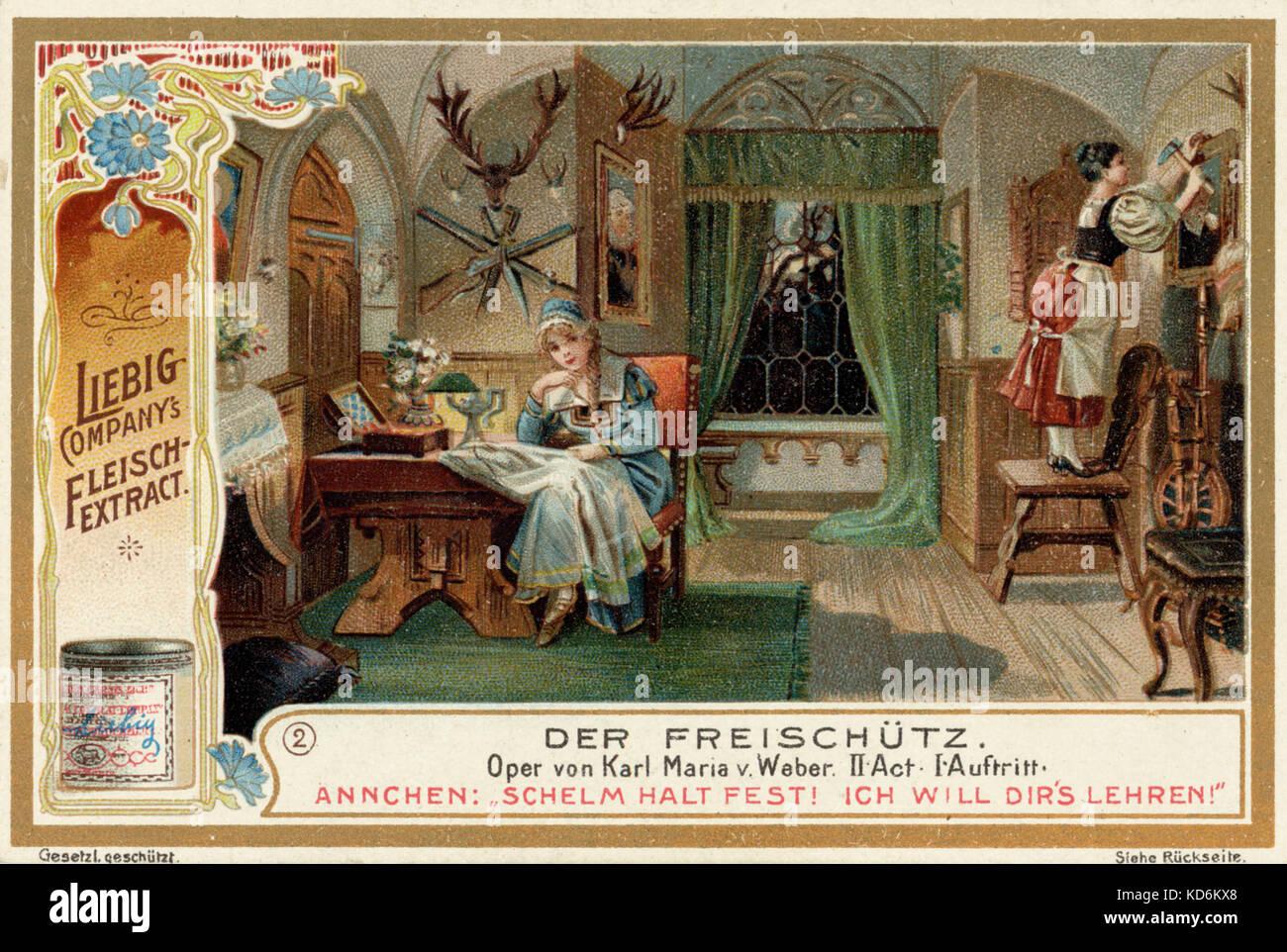 Carl (Karl) Maria von Weber - der freischütz. Szene aus Oper, Akt 2 ...