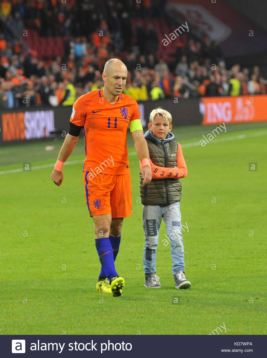 Amsterdam Niederlande 10 Okt 2017 Wm Qualifikationsspiel