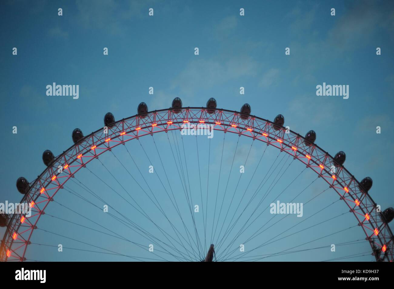 Die Londoner und und Blick vom London Eye Stockfoto