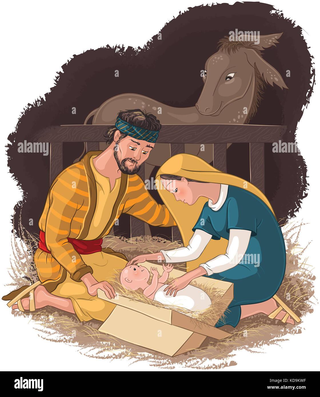 Ziemlich Baby Jesus In Krippe Färbung Seite Zeitgenössisch ...
