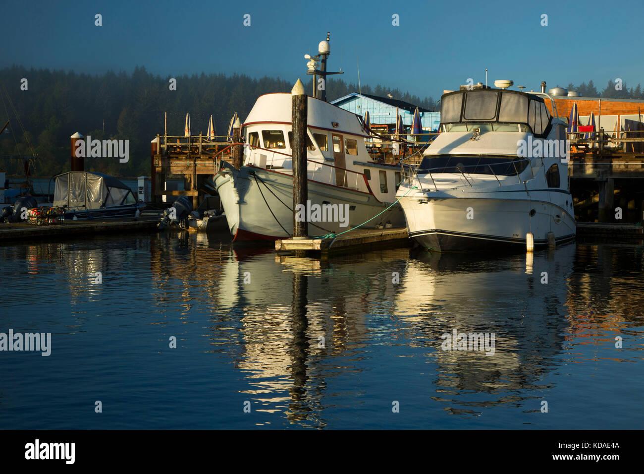 Marina, Florence, Oregon Stockbild
