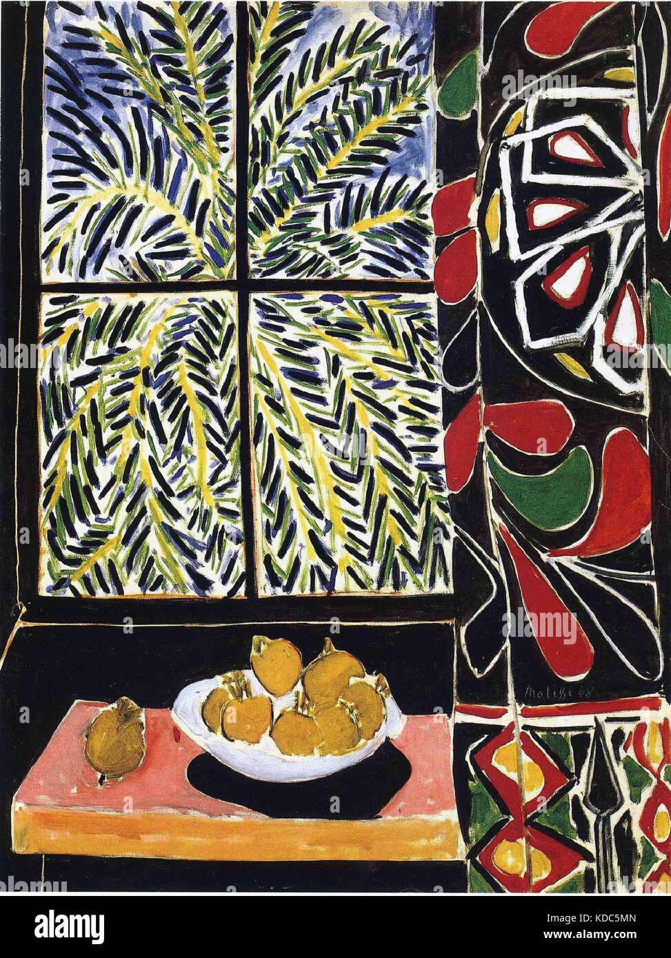 Intérieur au Rideau égyptien Matisse, Henri 1948 Stockbild