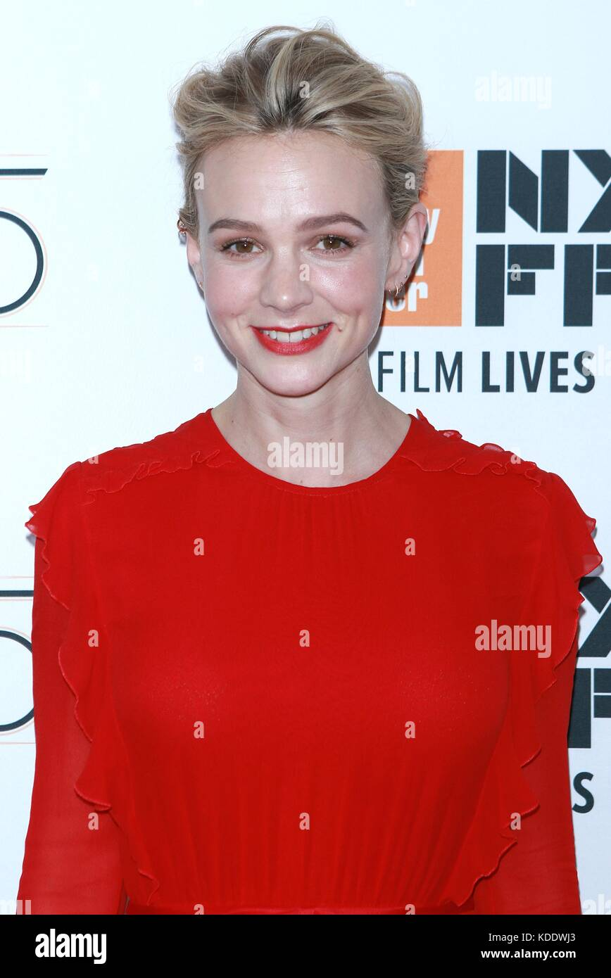 New York, NY, USA. 12 Okt, 2017. Carey Mulligan mudbound auf der 55 nyff in der Alice Tully Hall besucht am 12. Stockbild