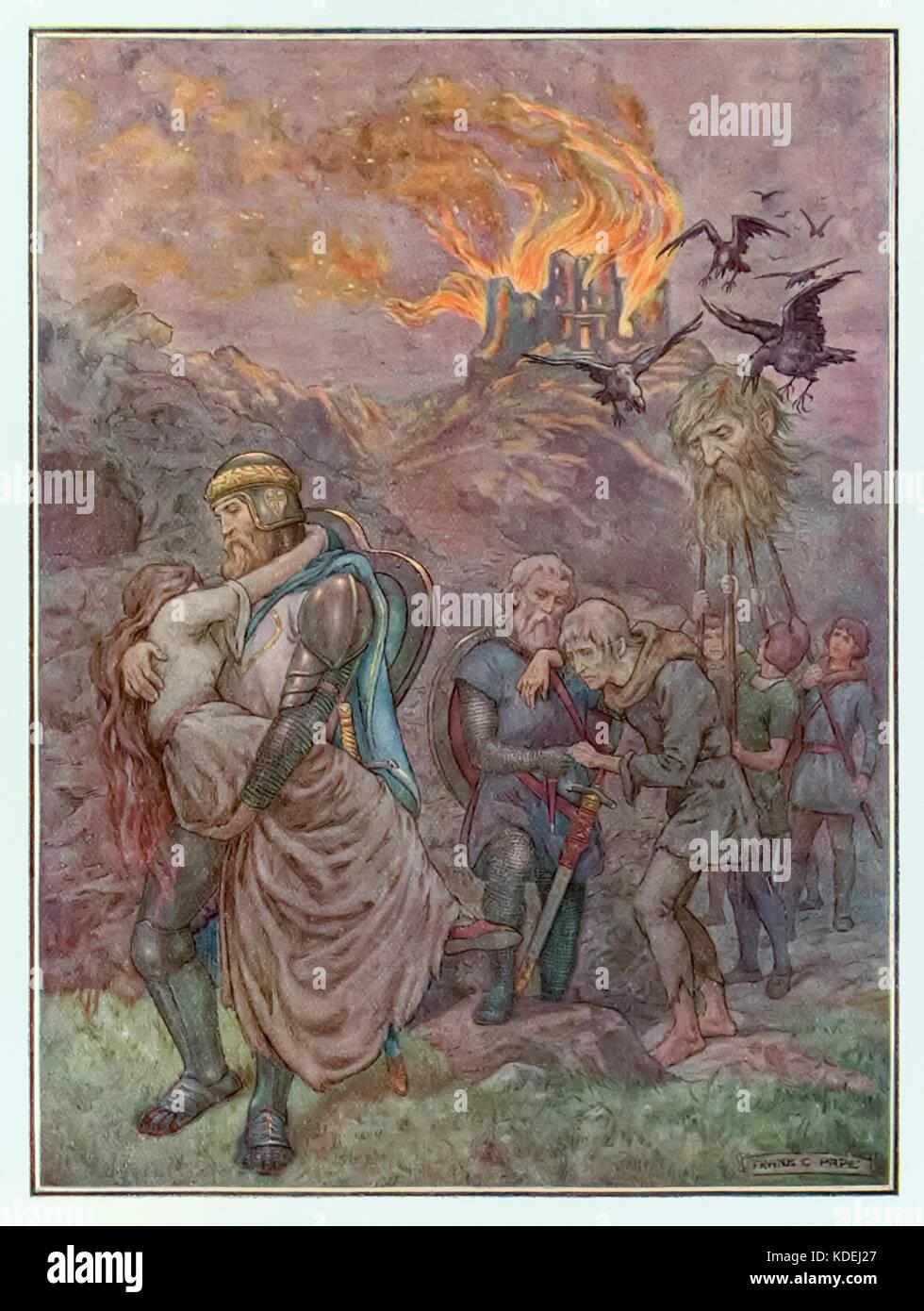 """""""Die Zerstörung des Zweifelns Schloss"""" aus """"Fortschritte der Pilger"""" von John Bunyan (1628 Stockbild"""
