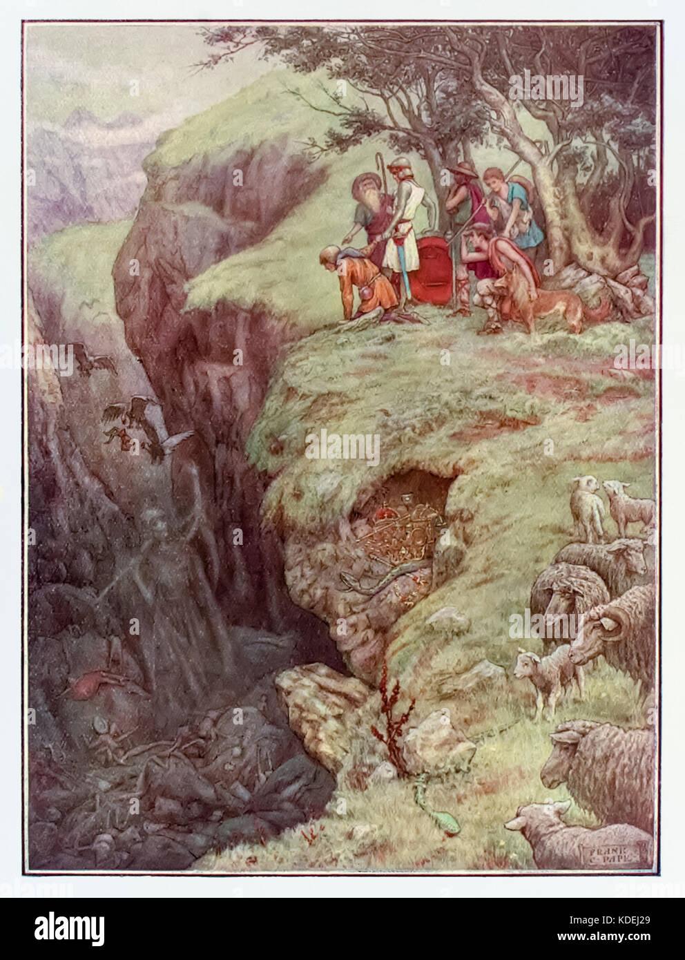 """""""Die Hirten der Christlichen und hoffnungsvoll auf die Spitze des Hügels von Error"""" aus """"Fortschritte Stockbild"""
