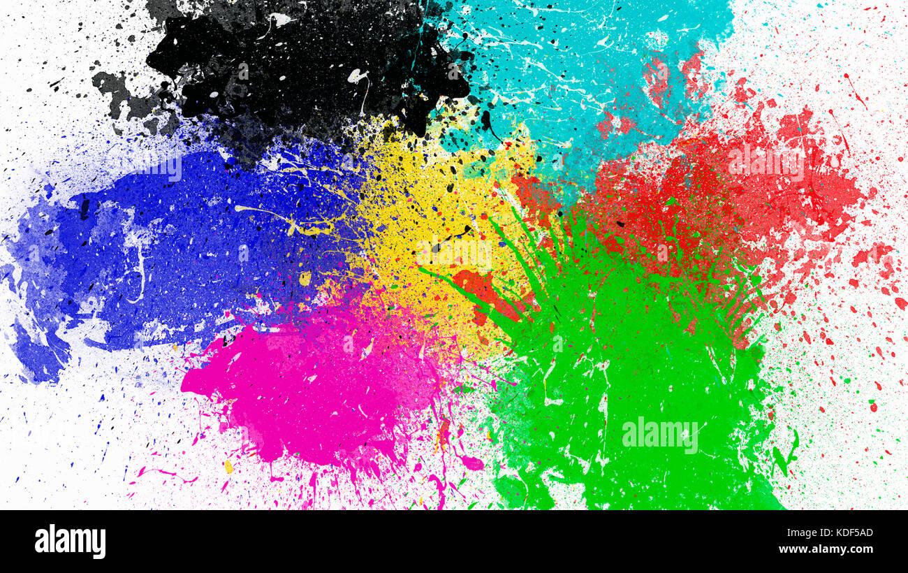 bunte farbe spritzen stockfoto, bild: 163217333 - alamy