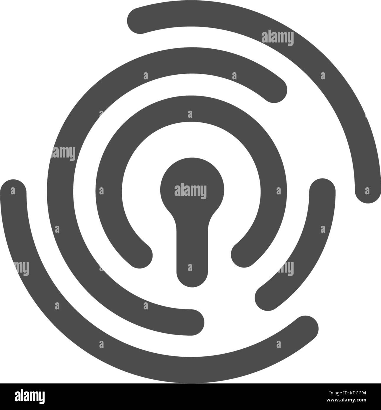 Die Identifikation Der Person Fingerabdruck Vektor Abstrakte Logo