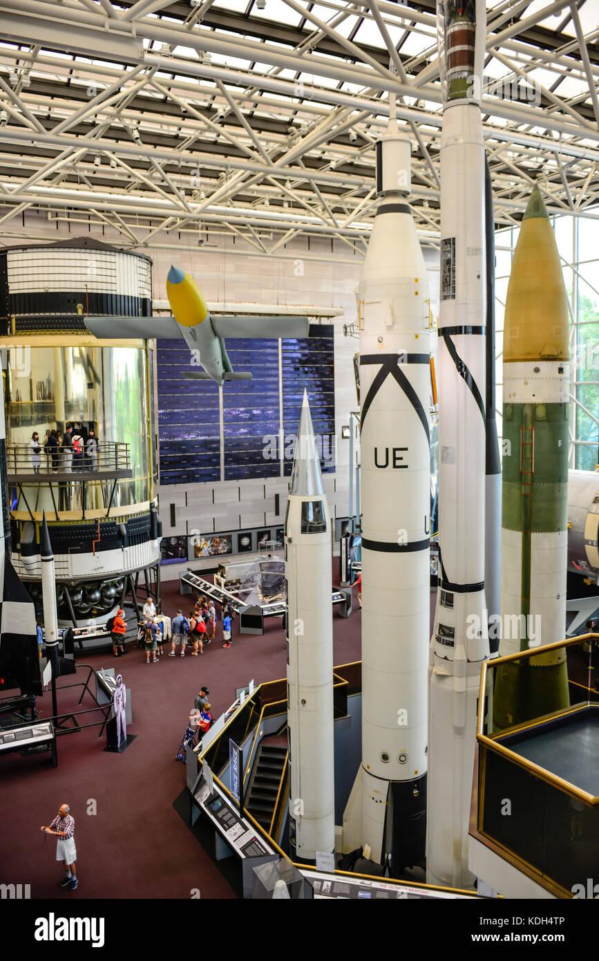 Innenraum Des National Air Und Space Museum Mit Exponaten Von