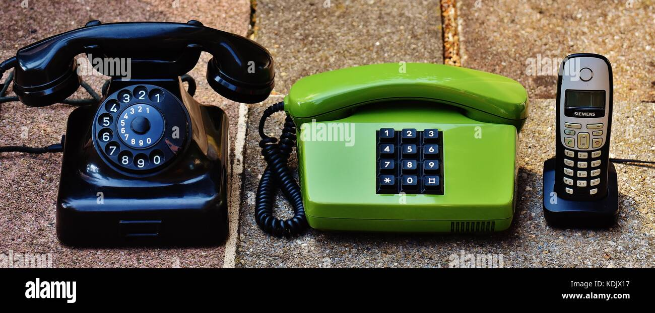 Retro Telefone Stockbild