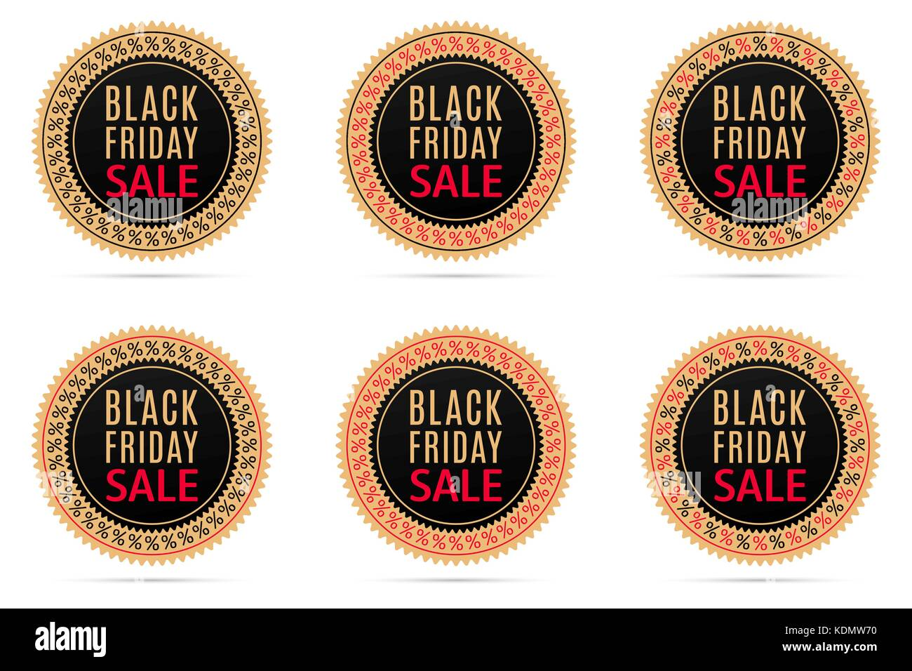 Schwarzer Freitag Verkauf Runde Banner Mit Werbung Für