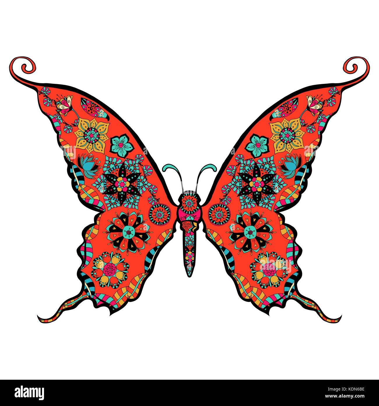 wunderschönen Schmetterling Malvorlagen in exquisitem Stil Vektor ...