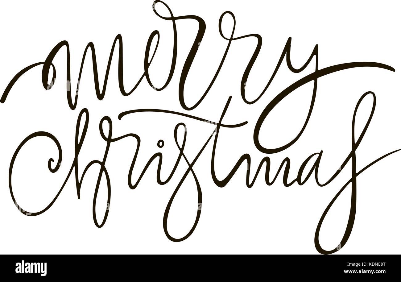 Frohe Weihnachten - Gruß Schriftzug Phrase. Schreiben urlaub Tinte ...