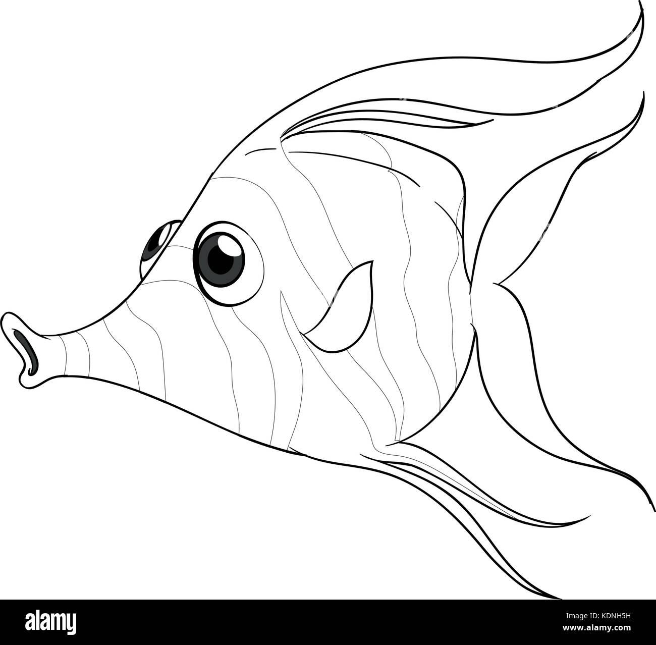 Tierische Umrisse für Fische Abbildung Vektor Abbildung - Bild ...