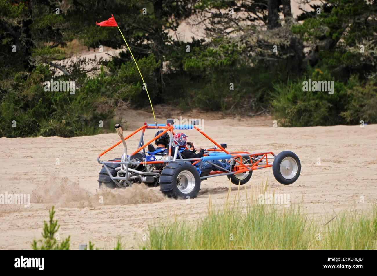 ATV auf Sanddünen, Florence, Oregon Stockbild