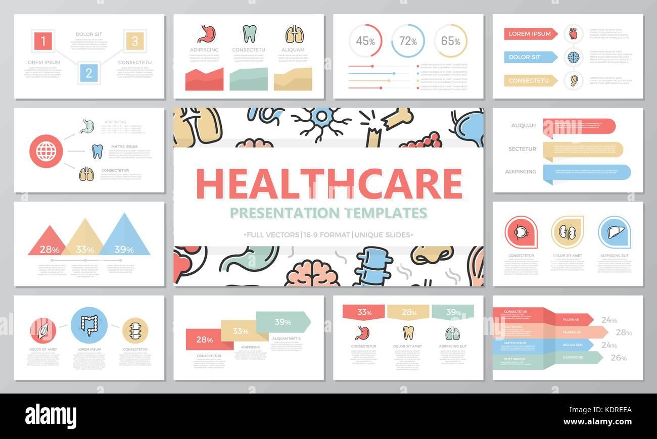 Satz von Medizin und Gesundheitswesen Elemente für die ...
