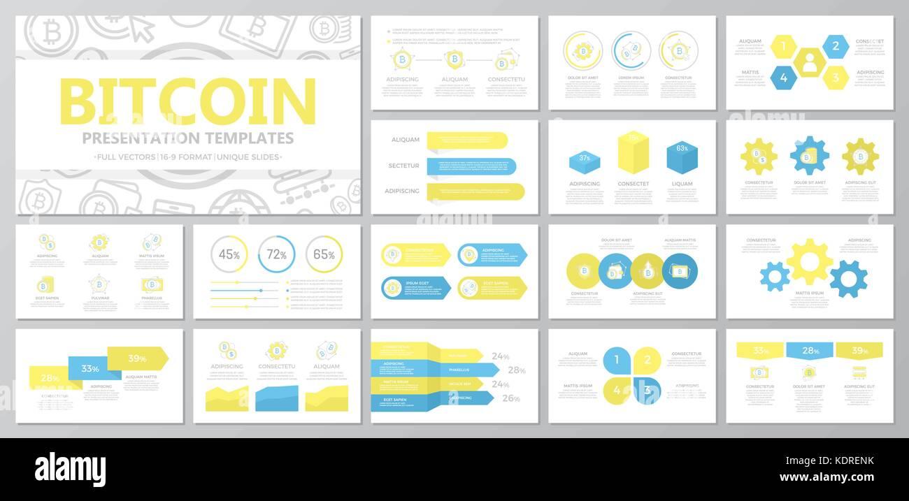Satz digitale Geld und bitcoin, cryptocurrency Elemente für die ...