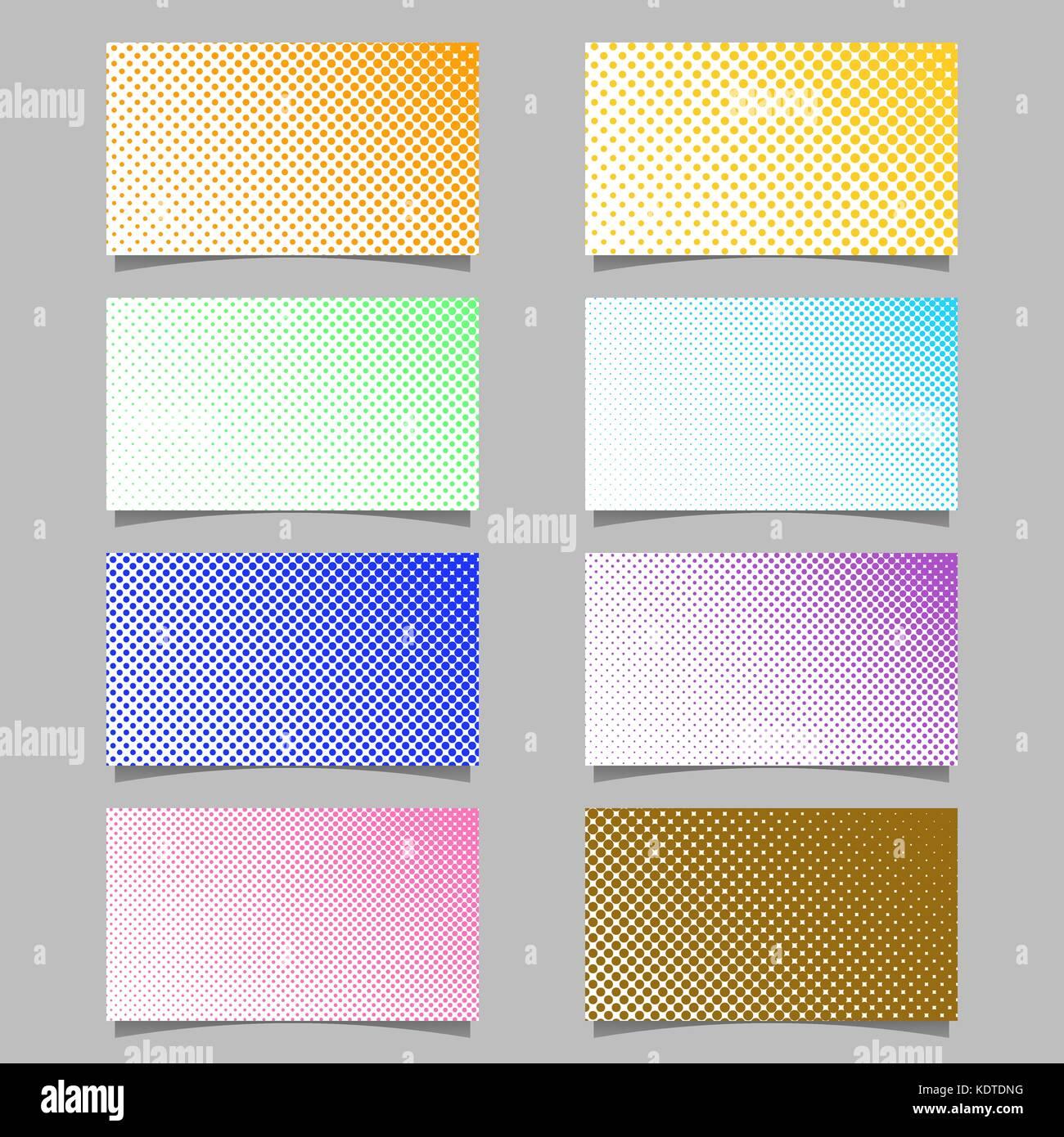 Farbe Abstrakte Halftone Kreis Muster Visitenkarte