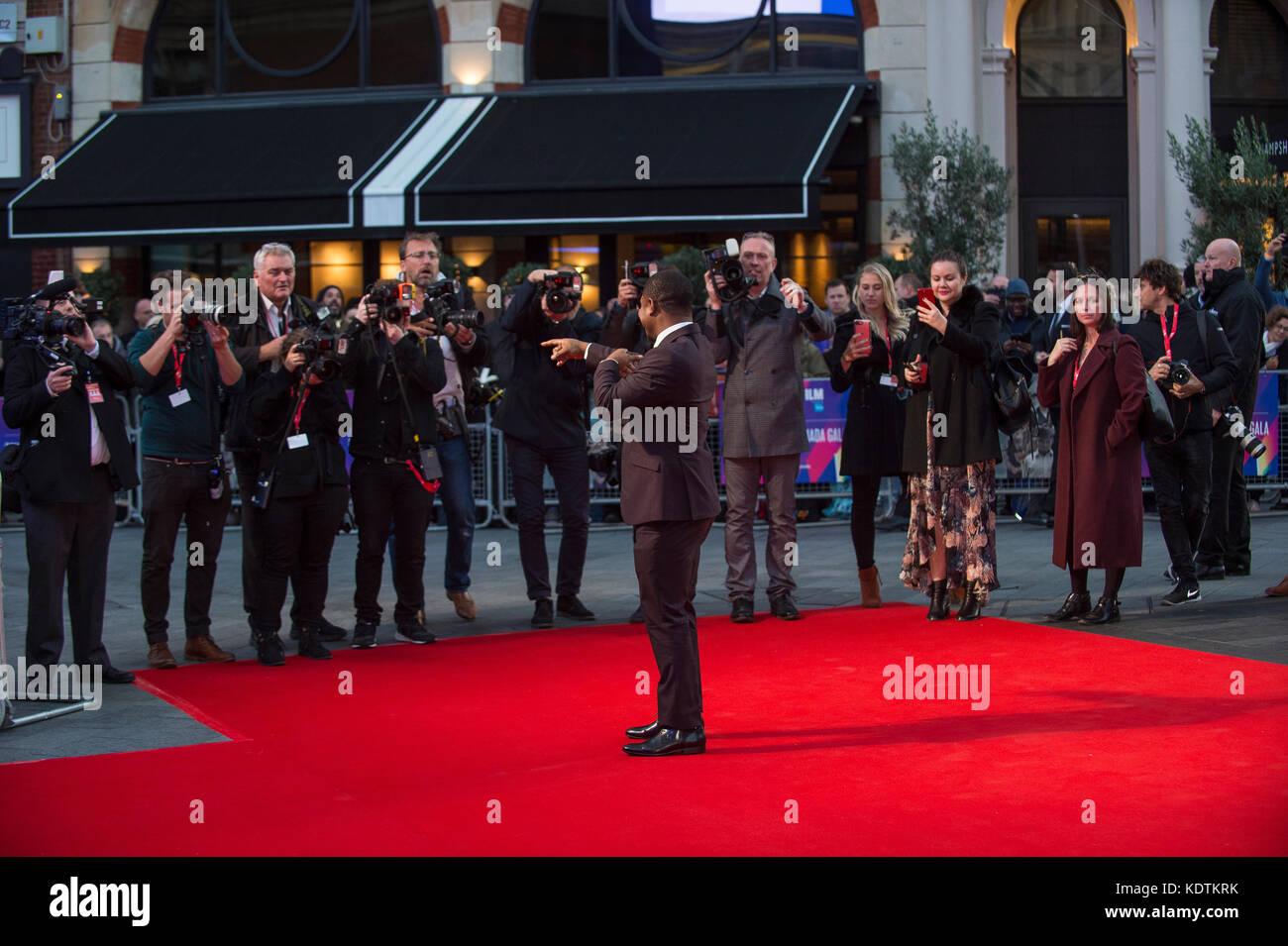"""Bin udbound """"europäische Premiere - 61. BFI London Film Festival Stockbild"""
