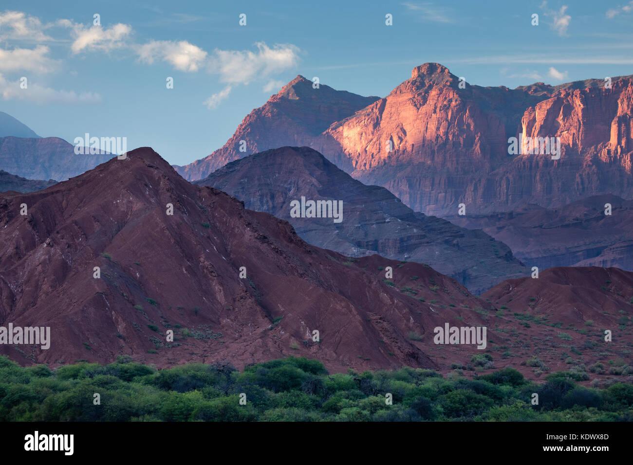 Die Quebrada de la Conches, Valles Calchaquies, Provinz Salta, Argentinien Stockbild