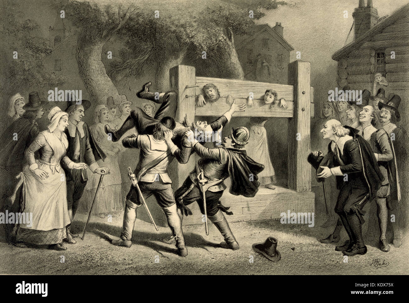 Salem Witch Trials, 1692 - 1693 Stockbild