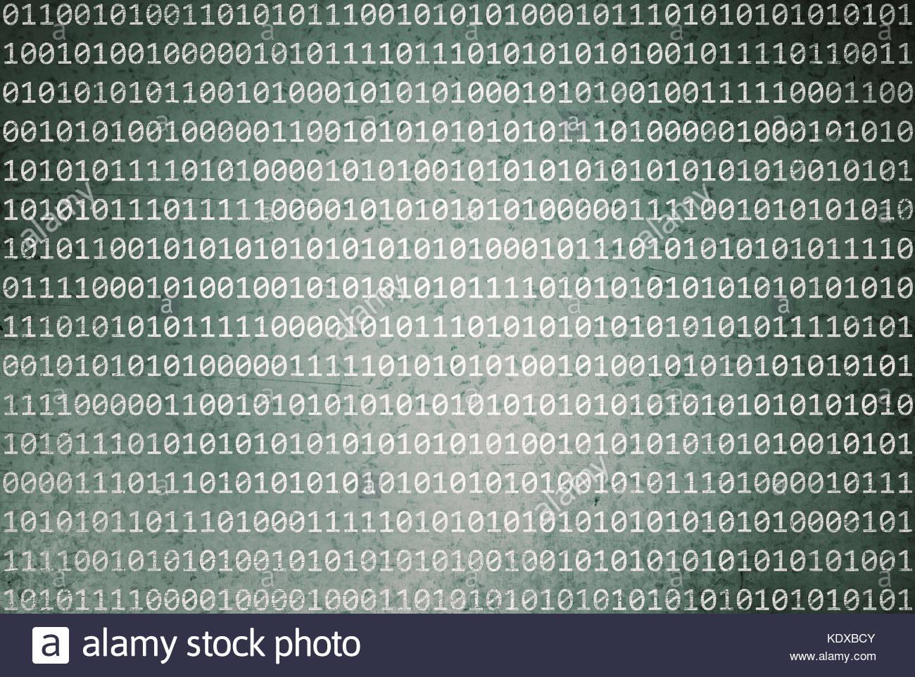 Binary Code Green Background Stockfotos & Binary Code Green ...