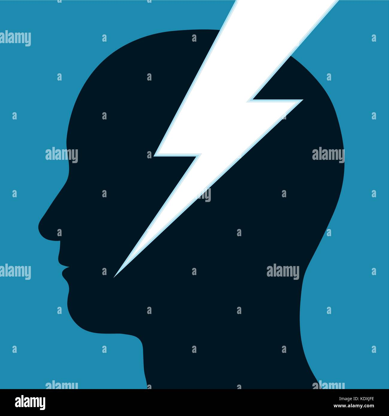 Blitz- oder elektrische Energie Symbol durch die Silhouette in ...