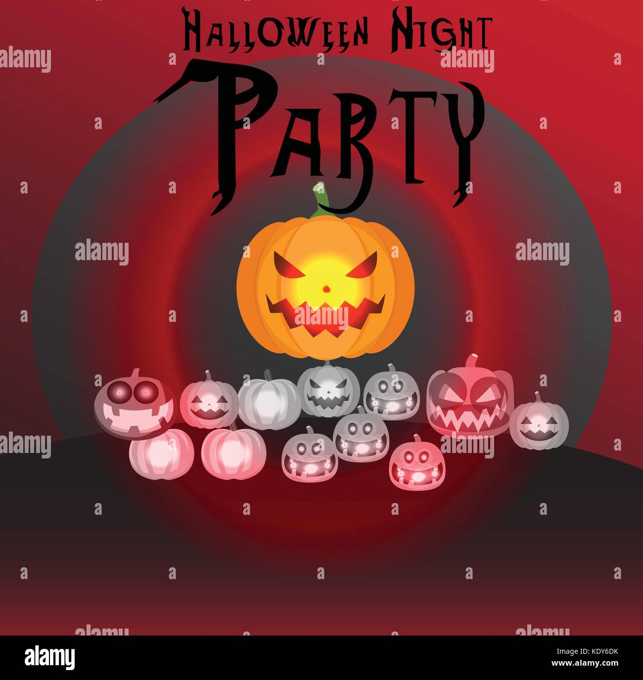 Artist: dulyapon somsri; Halloween Nacht Party Poster, Hintergrund, Hintergrund, Postkarte, Einladung Halloween Stockbild