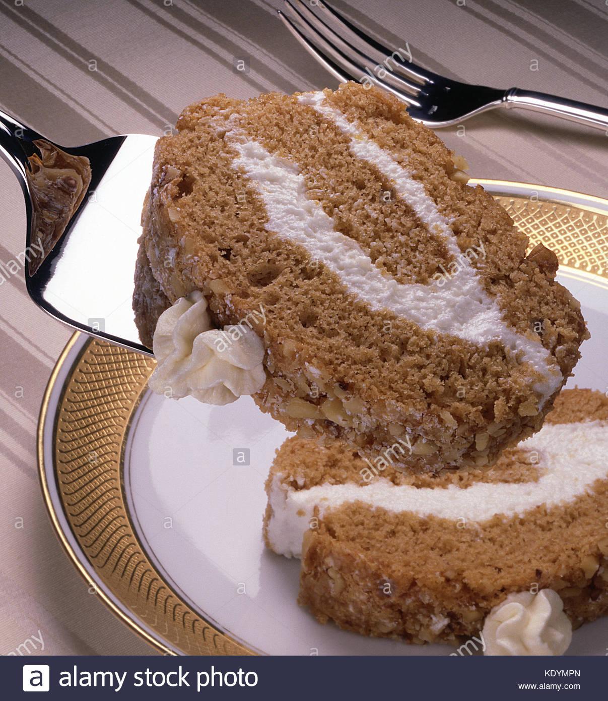 Mokka Creme Gefullt Kuchen Mocca Creme Kuchen Gefullt Stockfoto