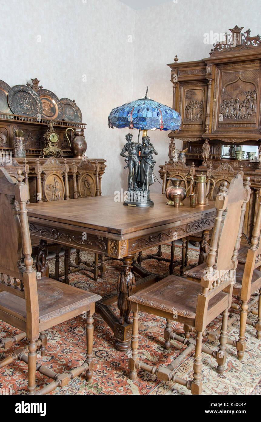Antike Küche Interieur im traditionellen belgischen Stil Stockfoto ...