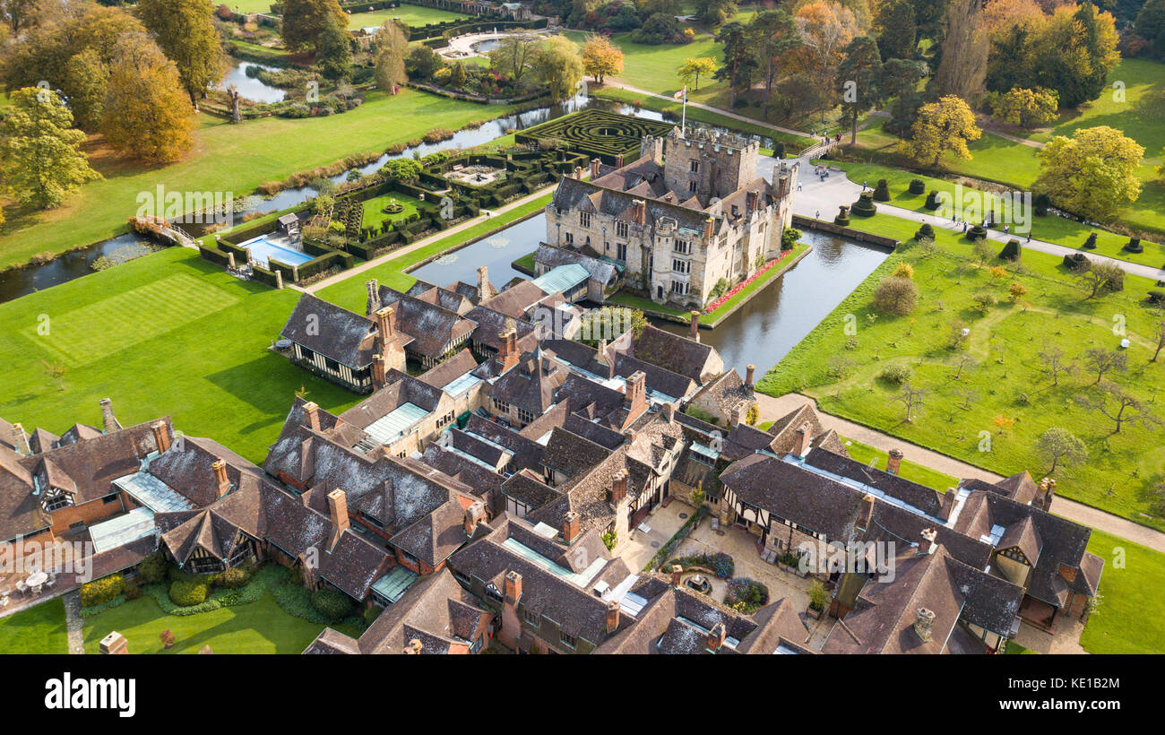 Hever Castle Bed and Breakfast, Hever Castle, Kent, Großbritannien Stockbild