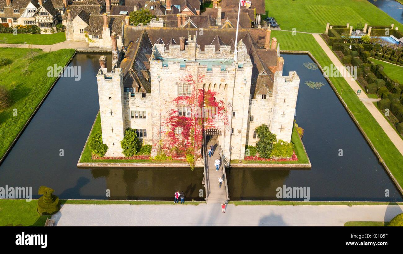 Außerdem befinden sich das Hever Castle, Hever, Kent, Großbritannien Stockbild