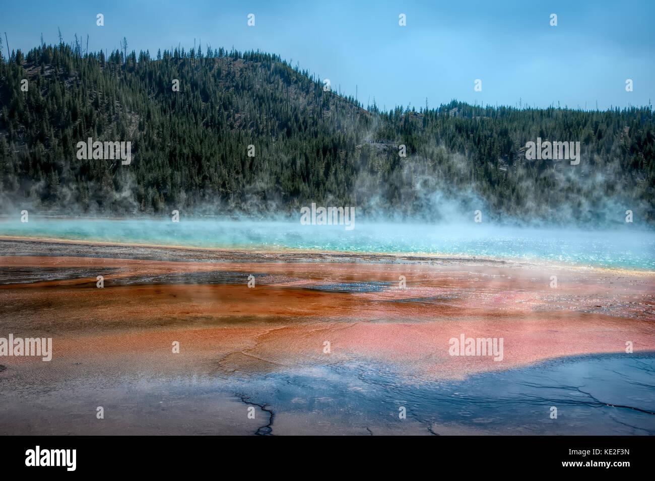 August 22, 2017 - Grand Prismatic Spring, Yellowstone National Park Stockbild